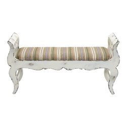 Benzara - Contemporary Inspired Style The Funky Wood Fabric Bench Home Decor - Contemporary and modern inspired style the funky wood fabric bench living and family room home accent decor