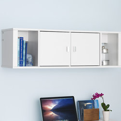 Prepac - White Wall Storage Cabinet - This mountable wall hutch features plenty of space for storing and organizing essentials like books, mail and kitchen accessories. It comes ready to assemble and includes an easy-to-follow instruction manual, so adding contemporary convenience to any room is a cinch.   42.5'' W x 13'' H x 12'' D CARB-compliant composite wood Assembly required Made in Canada