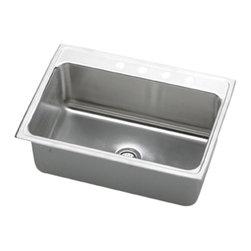 """Elkay - Elkay DLR3322103  33"""" x 22"""" Lustertone Gourmet Sink - Elkay's DLR3322103 is a 33"""" x 22"""" Lustertone Gourmet Sink. This high-quality sink is constructed of 18-gauge, Type 304 nickel bearing stainless steel, and is self-rimming."""
