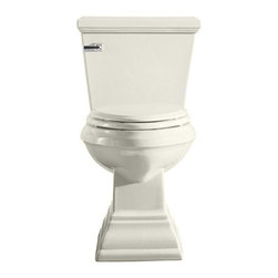 American Standard - American Standard Town Square Flowise Concealed Trapway Elongated Toilet Bowl - American Standard 3071.000.222 Town Square FloWise Concealed Trapway Right Height Elongated Toilet Bowl with 2 Bolt Covers, Linen