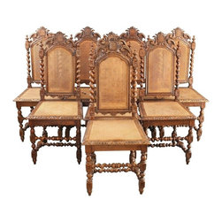 EuroLux Home - Consigned Antique Dining Chairs 1880 French - Product Details