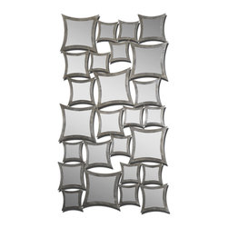 Uttermost - Rigel Silver Leaf Mirror - Striking stacks of glimmer and glass make a statement in your decor. This remarkable mirror designed by Grace Feyock is chic, fun and fabulously reflective.