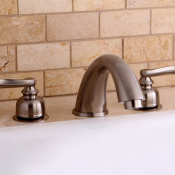 None - Satin Nickel Roman Tub Filler Faucet - Give your bathroom a contemporary touch with this solid brass Roman tub filler. This fixture is the perfect companion to any renovation project.