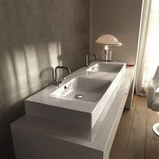 WS Bath Collections Cento 3536 Kerasan Bathroom Sink Designed by Marc Sadler of