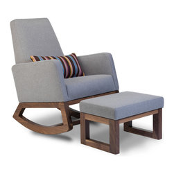 Monte Design - Joya Rocker - The Joya Rocker has tailored upholstery and a tall supportive back.