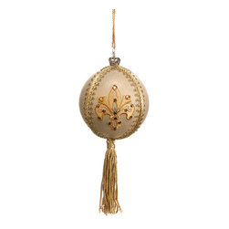 Silk Plants Direct - Silk Plants Direct Jewel Embroidered Crown Ball Ornament (Pack of 6) - Pack of 6. Silk Plants Direct specializes in manufacturing, design and supply of the most life-like, premium quality artificial plants, trees, flowers, arrangements, topiaries and containers for home, office and commercial use. Our Jewel Embroidered Crown Ball Ornament includes the following: