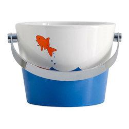Scarabeo - Bucket Bathroom Sink with Fish design - Contemporary style vessel bathroom bucket sink.