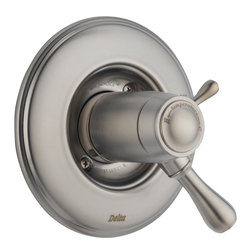 Delta - Leland TempAssure 17T Series Valve Trim Only with Volume Control - Delta T17T078-SS Leland TempAssure 17T Series Valve Trim Only with Volume Control in Stainless.
