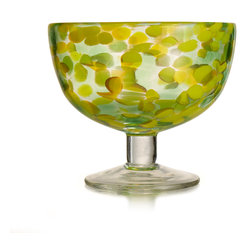 Jay Import Co. - Splash Green Set of 4 Ice Cream Bowl - Add elegenace to your home with this set from Fitz & Floyd.