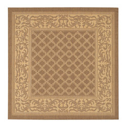 """Couristan - Recife Garden Lattice Rug 1016/3000 - 7'6"""" x 7'6"""" - These weather-defying area rugs are suitable for indoor and outdoor use. You'll love the way they color-coordinate with today's most popular outdoor furniture pieces. The collection's naturally inspired color palette will provide a warmer and more inviting appearance for patio decks and stone entryways."""