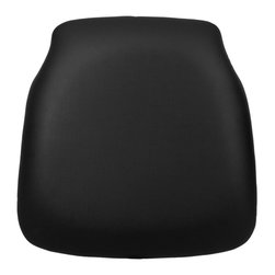 Flash Furniture - Flash Furniture Hard Black Vinyl Chiavari Chair Cushion for Wood Chiavari Chairs - Hard cushions are the most popular choice in the Rental and Event industry offering firm support. Velcro strips underneath cushion secures cushion to the seat. [SZ-BLACK-HD-GG]