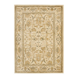"""Safavieh - Heirloom Brown/Yellow Area Rug HLM1666-2520 - 9'6"""" x 13' - Safavieh's Heirloom collection offers the beauty and painstaking detail of traditional Persian and European styles with the ease of polypropylene. With a symphony of florals, vines and latticework detailing, these beautiful rugs bring warmth and life to any room."""