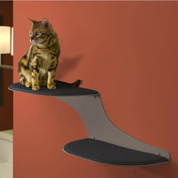 Refined Feline Cat Clouds Cat Shelf, Titanium - These sleek cat shelves will keep the cat furniture off the floor and keep your style refined. Most importantly, it will keep your beloved pet happy.