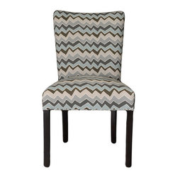 Sole Designs - Denton Cotton Parson Chair (Set of 2) - Give your home a new look with these fashionable chairs. This set of two chairs features fabric upholstery and an attractive finish. Features: -Set of 2.-Upholstery: 100% cotton fabric.-Wingback.-Espresso legs.-Straight legs.-Fire retardant foam.-Wipe clean.-Made in the USA.-Frame construction: Hardwood.-Finish: Wood.-Denton collection.-Collection: Denton.-Distressed: No.-Country of Manufacture: United States.Dimensions: -Overall dimensions: 39'' H x 21'' W x 24.5'' D.-Overall Product Weight: 23 lbs.