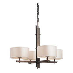 Troy Lighting - Sapporo 4 Light Hand Worked Wrought Iron 26 Chandelier - Since 1963, Troy Lighting has been creating highly original fixtures shaped by a passion for design, quality and value.