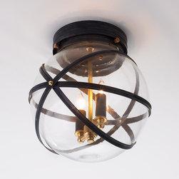Steampunk Indoor Outdoor Ceiling Light BZ or Copper -