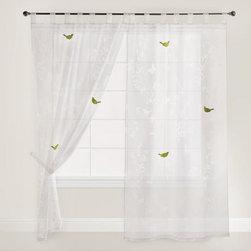 White Bird Botanical Sheer Burnout Curtain -