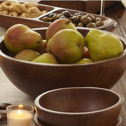 Vintage Wood Serving Bowl - Create a bit of the wine country wherever you are with these rustic pieces inspired by a found object from a Napa flea market. Hand wash. Hand made of sustainably harvested mango wood.