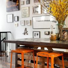 Eclectic Kitchen by Capella Kincheloe Interior Design