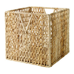 PJAS Basket - A wicker basket that slides easily into the Expedit storage shelves,  keep clutter at bay with this lightweight box that is perfect for all your favorite collected things.