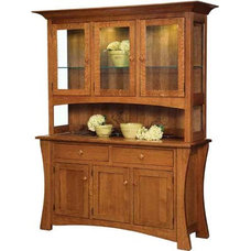 Arts and Crafts Hutch | Indiana Amish Hutch | Customizable Hutch | Solid Wood Hu