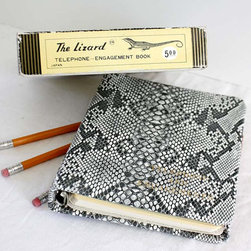 Funky Faux Snake Skin Daily Planner by Blueprint Vintage - Nothing says organized like a good 2013 diary.