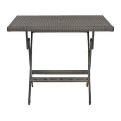 Safavieh - Samana Sqaure Folding Table - The Samana Square Folding Table brings hassle-free fun to any outdoor room. Perfect for dining, playing your favorite games or a romantic dessert-inspired soiree for two, its sophisticated rattan finish makes this classic piece a must-have.