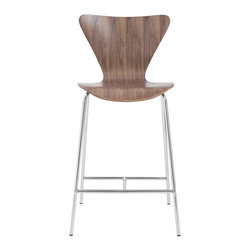 Euro Style - Euro Style Tendy-C Counter Chair (Pack of 2) X-52820 - Certain designs cross the threshold from interesting and glamorous all the way over to nothing less than a design icon.  You're looking at it.  And you could be sitting in it!