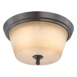 Nuvo Lighting - Nuvo Lighting 60-4172 Surrey 2-Light Flush Dome Fixture with Auburn Beige Glass - Nuvo Lighting 60-4172 Surrey 2-Light Flush Dome Fixture with Auburn Beige Glass
