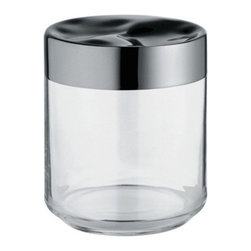 "Alessi - Alessi ""Julieta"" Kitchen Jar, Stainless Steel Mirror Polished, Medium - Kitchen jar in glass with hermetic lid in 18/10 stainless steel"