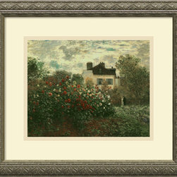 Amanti Art - The Artist's Garden at Argenteuil, 1873 Framed Print by Claude Monet - It may be a replica, but your guests will still marvel at Monet's astounding talent. Custom-framed in a stunning antique silver wood frame, this gallery-quality acrylic artwork will look fabulous wherever it's placed. Thanks to Monet, now you too can enjoy the gorgeous garden of Argenteuil.