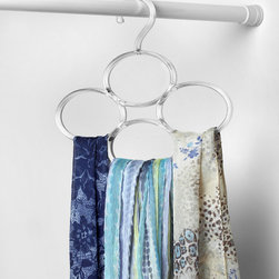 """Closet Organization & Accessories - Ideal for storing ties, belts, scarves and more, Spectrum's Virgo Closet Scarf Organizer is designed to provide maximum storage using minimal space. Made of durable plastic, this item fits securely over standard closet rods up to 1-5/16"""" in diameter."""