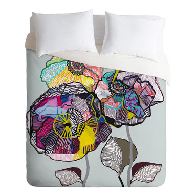 DENY Designs - Mikaela Rydin Growing Duvet Cover - Turn your basic, boring down comforter into the super stylish focal point of your bedroom. Our Luxe Duvet is made from a heavy-weight luxurious woven polyester with a 50% cotton/50% polyester cream bottom. It also includes a hidden zipper with interior corner ties to secure your comforter. it's comfy, fade-resistant, and custom printed for each and every customer.