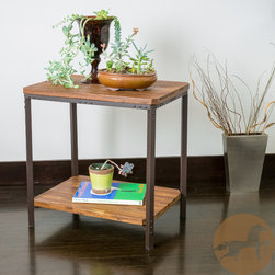 Christopher Knight Home - Christopher Knight Home Ronan Wood Rustic Metal End Table - The Ronan table combines rustic and urban elements for a stylish and practical end table. Built from hardwood and iron rustic metal legs, this table ensures durability for indoor use.