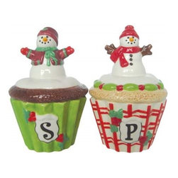 Westland - Multi-Colored Snowmen with Scarf's Cupcake Salt and Pepper Shakers - This gorgeous Multi-Colored Snowmen with Scarf's Cupcake Salt and Pepper Shakers has the finest details and highest quality you will find anywhere! Multi-Colored Snowmen with Scarf's Cupcake Salt and Pepper Shakers is truly remarkable.