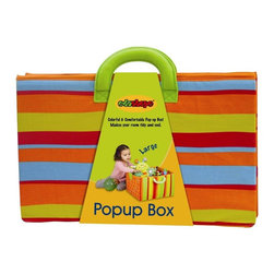 Edushape - Edushape Large Fabric Pop-Up Box Multicolor - 926001 - Shop for Blocks from Hayneedle.com! The Edushape Large Fabric Pop-Up Box is a brightly colored light weight pop-open box that has easy carry handles. The box provides convenient storage for your child's toys and collapses flat for when it needs to be stored.About EdushapeEstablished in 1983 Edushape is a family-owned and -operated company with a focus on manufacturing quality children's toys and products. Edushape is committed to producing soft safe quality children's toys that promote successful developmental learning through play.