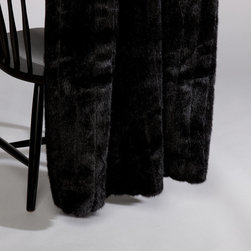 Black Mink Faux Fur Throw - Watch your favorite scary movie and cuddle up with this chic black faux fur throw from Ethan Allen.