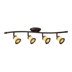 Hampton Bay - Hampton Bay Under Cabinet Lighting 4-Light Antique Bronze Track Lighting - Shop for Lighting & Ceiling Fans at The Home Depot. Illuminate your room in style with the Hampton Bay 4-Light Antique Bronze Wave-Bar Fixture. The 4 multi-directional GU10-16 halogen lights along the 120-volt fixture feature antique bronze finish. This fixture is UL certified for quality and safety. Uses four GU10-16 Halogen bulbs 50-watt maximum (included).