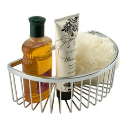 Half Moon Shower Basket - Keep shower supplies within arm's reach with the stylish Half Moon Shower Basket. Attach to the wall with the included screws.
