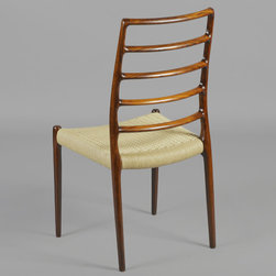 Neils Moller no. 82 Highback Dining Chairs, set of 10 - Vintage 1970s Highback Dining Chairs by Neils Møller.