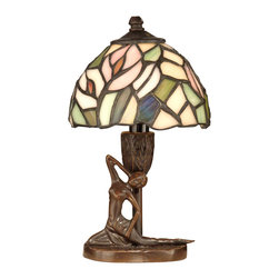 Dale Tiffany - Dale Tiffany TA10607 Lady 1 Light Table Lamps in Antique Bronze Paint - Tiffany Lady Accent Lamp