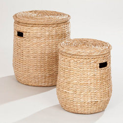 Victoria Lidded Storage Basket - Basket storage options are breathable and can house items like blankets and pillows.