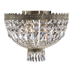 "Worldwide Lighting - Metropolitan 4 Light Antique Bronze Crystal 16"" Round Flush Mount Ceiling Light - This stunning 4-light ceiling light only uses the best quality material and workmanship ensuring a beautiful heirloom quality piece. Featuring a radiant antique bronze finish and finely cut premium grade crystals with a lead content of 30%, this elegant ceiling light will give any room sparkle and glamour. Worldwide Lighting Corporation is a privately owned manufacturer of high quality crystal chandeliers, pendants, surface mounts, sconces and custom decorative lighting products for the residential, hospitality and commercial building markets. Our high quality crystals meet all standards of perfection, possessing lead oxide of 30% that is above industry standards and can be seen in prestigious homes, hotels, restaurants, casinos, and churches across the country. Our mission is to enhance your lighting needs with exceptional quality fixtures at a reasonable price."