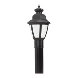Sea Gull Lighting - Sea Gull Lighting 82390BL-12 Belmar 1 Light Post Lights & Accessories in Black - This 1 light Post Lantern from the Belmar collection by Sea Gull will enhance your home with a perfect mix of form and function. The features include a Black finish applied by experts. This item qualifies for free shipping!