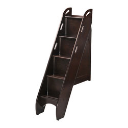 Night And Day Furniture - Bunk Storage Stairs (For Use With Cinnamon Twin/Twin & Full/Full Only)-Chocolate - This optional upgrade to our Cinnamon twin/twin or Ginger full/full bunk beds adds storage, safety and style.