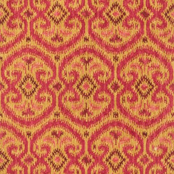 "Loloi Rugs - Loloi Rugs Milano Collection - Gold/Berry, 3'-6"" x 5'-6"" - The Milano Collection from India celebrates popular, high-fashion Ikats, but with a twist. Here, a chunky, hand-hooked construction in 100-percent wool adds lush texture and dimension to this series of nine distinctive, large-scale Ikat patterns. Complemented with a designer palette that will enliven any room, the Milano Collection comes in a full spectrum of up-to-date brights and neutrals."