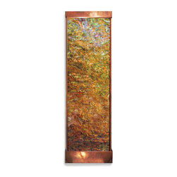 Hand Painted Wall Mounted Water Features - Each of our hand painted wall water features are truly unique! Even when not running these beautiful water walls are still exquisite pieces. These water features are hand painted Not Prints. And they are painted in reverse on the backside of the clear acrylic (dry side) so they are guaranteed to lastNo breakdown over time. Truly Amazing!