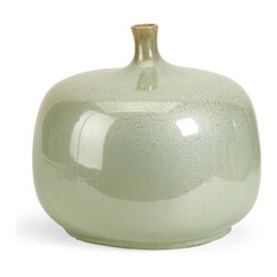 "IMAX - Massey Short Vase - The Massey Vase is sure to be a statement in anyone's home. The variegated greens and rotund shape demand attention! Earthy and warm, this bowl make a perfect gift or decorative accent. For a coordinated look purchase matching bowl and vase. Item Dimensions: (11.75""h x 13.5""d)"