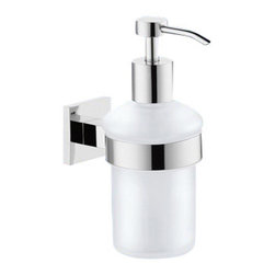 Gedy - Wall Mounted Frosted Glass Soap Dispenser - Part of the Gedy New Jersey collection, this wall-mount soap & lotion dispenser is essential to keep soap handy.