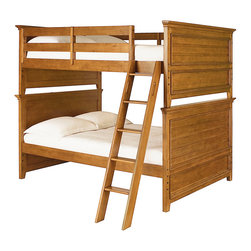 Lea Industries - Lea Willow Run Bunk Bed in Rich Toffee Brown - Full - This classic bunk bed is a great space saver for your child's bedroom. It features lovely slat panel detailing on the ends and sturdy construction for a casual, timeless look. Many different styles and settings will work well with this simple design. A guard rail is included on the top bunk to prevent rolling over the edge while a ladder provides easy mobility from top to bottom. in addition, a under storage trundle is including, providing extra storage space for keeping books, games, blankets, bed sheets, pillows and much more. Make room for siblings and sleepovers in your home with help from this attractive bunk bed.
